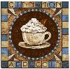 coffee tile cappuccino