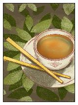 Time For Tea Series- chopsticks note card