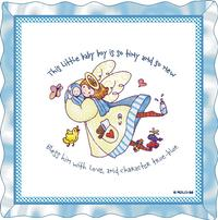 Baby Boy's Angel Pillow