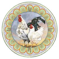 rooster couple round