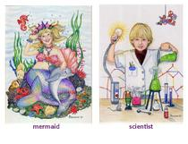 mermaid and scientist